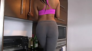Asian babe is a nasty wife