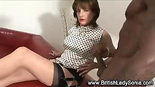 British trophy wife gets cumshot