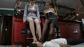 goddess Victoria & mate Nylon Toes licked