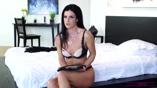 Busty housewife India Summer takes some time after filming