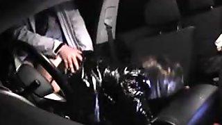 Slutwife gangbanged in her car