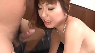 Japanese wife cheats on her husband and gets double penetration