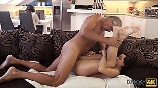 Interracial homemade couple prefer white meat