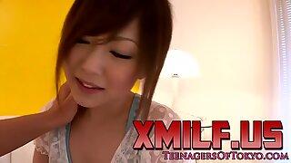 Asiático Jovencita jugó en Ceñir hasta el semen en la cara por XMILF.US