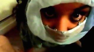 Arab wife big facial