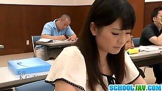 Stimulation with her nasty teacher