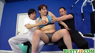 Mizuki rubs cocks with huge assets