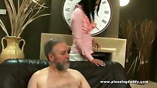 Old guy fucks his trophy wife