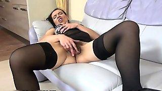 Busty Mature Amateur Wife Dildo Masturbating And Creampie