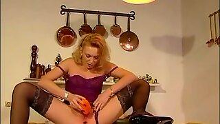 Anastasia Kass - insertions Vegetable Doubleanal Cucumber extraordinary Big dildo