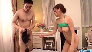 Busty Chihiro Akino works a big dick like a goddess - More at JavHD.net