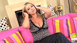 Blonde Housewife Has Fun With Dildo
