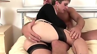 Cheating wife sucks cock while being fingered